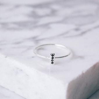 iloveblossom FOUR-STEP BAR RING // silver