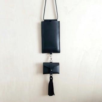 Grotkop Collection PHONE BAG Schwarz, pflanzlich gegerbt