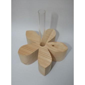 Kernholz Holzblume mit Reagenzglas