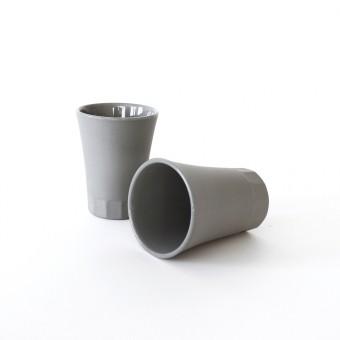 Tässchen für Espresso, Limoncello und Schnaps, Grau Porzellan. Tassen Espresso. POSITANO Kollektion by ORTOGONALE