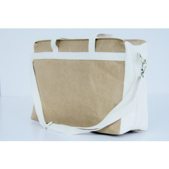 Weekender, vegane Schulter-Tasche aus nachhaltigem Kraft Papier BY COPALA