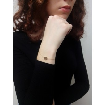 BeWooden Armband mit Holzdetail - Aurum Hexagon Bracelet