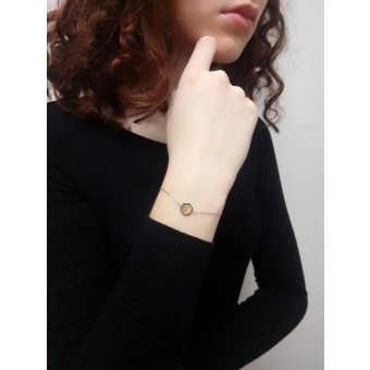 BeWooden Armband mit Holzdetail - Lini Hexagon Bracelet
