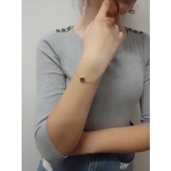 BeWooden Handkette mit Holzdetail - Rea Hexagon Bracelet