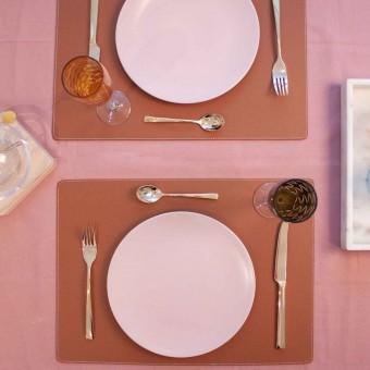 adorist. - Leder Tischset, rechteckig, siena