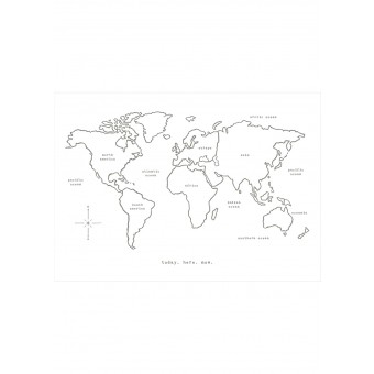 WORLD MAP - A3 Print - Anna Cosma