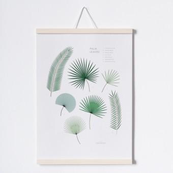 FINE FINE STUFF - Poster Palm Leaves mit Posterleiste - A3