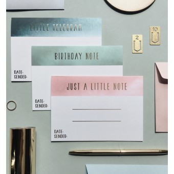 Set aus 3 Grusskarten mit Foliendruck - Anna Cosma