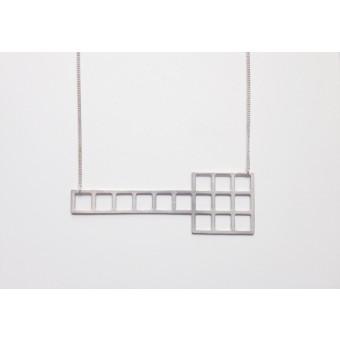theobalt.design tetris Kette quer versilbert