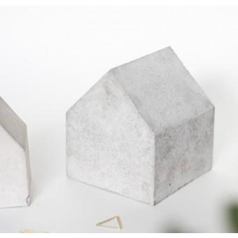 Mhoch3 Deko Betonhäuschen - Buchstütze