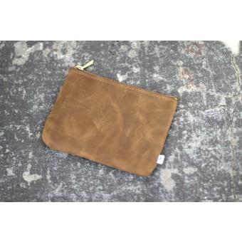 ElektroPulli Handgefertigte Geldbörse aus echtem Leder