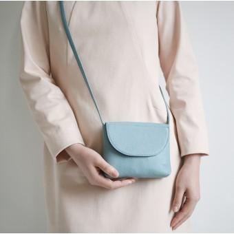 alexbender – Partytasche echt Leder Taubenblau