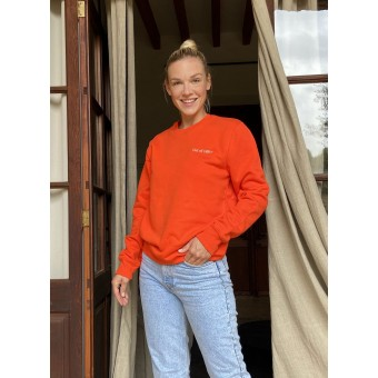 """The Life Barn – """"Out Of Office"""" Sweatshirt Unisex (fire)"""