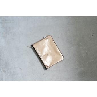 ElektroPulli Handgefertigte Geldbörse/Täschchen aus echtem Leder in kupfer