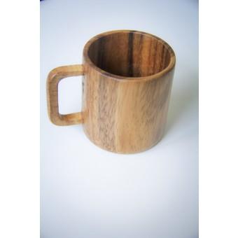 Kaffeetasse aus Akazie, handgefertigter Holz-Becher BY COPALA