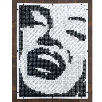 Frau Schneize Würfelmosaik Puzzle