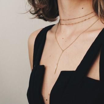 ST'ATOUR ISKA – zarter Choker mit Perlen