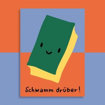 Family Tree Shop / Postkarte / Schwamm drüber!