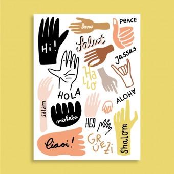 Family Tree Shop / Postkarte / Hallo aus aller Welt