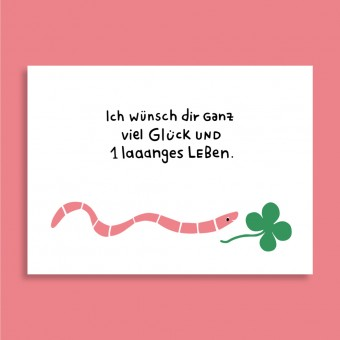 Family Tree Shop / Postkarte / Laaaaanges Leben