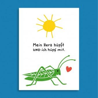 Family Tree Shop / Postkarte / Mein Herz hüpft!