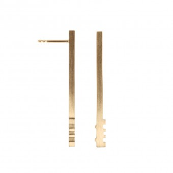 Jasmina Jovy Jewellery Decode! Earrings EADC02 gold plated