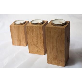 JL-Holz Kerzenhalter (3er Set)