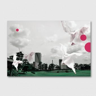 """ZEITLOOPS """"Japanischer Garten"""", Posterprint 40x60 cm"""