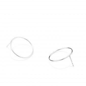 Jonathan Radetz Jewellery, Stecker SPIRAL 20, Silber 925, Sterlingsilber, Durchmesser 20 mm, Handmade in Germany