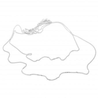 Jonathan Radetz Jewellery, Kette rawENDLESS, Silber 925, Sterlingsilber, Länge 120 cm, nahtlos, Handmade in Germany