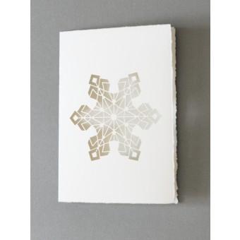 """MONASTINE   Weihnachtskarte """"Snefnug №1"""" – Büttenkarte mit Kuvert – DIN A6"""