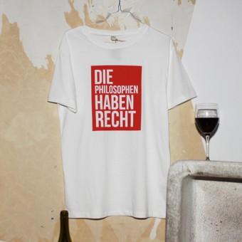 """KINDERGELD ORGANIC Mens Classic T-Shirt """"WILHELM"""" (DIE PHILOSOPHEN HABEN RECHT)"""