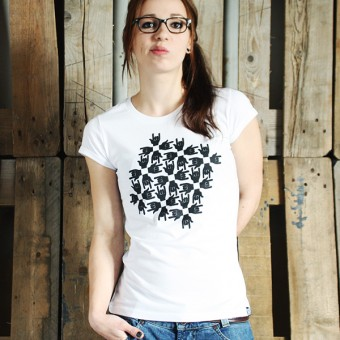 "KINDERGELD ORGANIC Womens Roll Sleeve T-Shirt  ""FRANZ"""