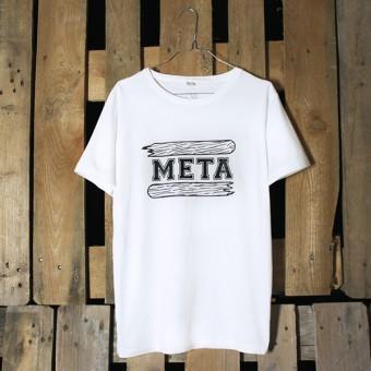 """KINDERGELD ORGANIC Classic T-Shirt """"BERND"""" (META) weiß"""