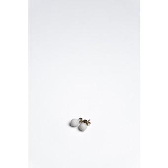 Klunkergrau Betonschmuck | Perlenohrringe aus Beton