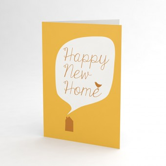"JUNOgraphics Klappkarte Umzug ""Happy New Home"""