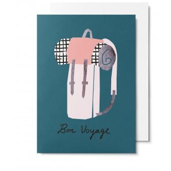 UNTER PINIEN Bon Voyage - Klappkarte mit Umschlag