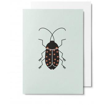 UNTER PINIEN Käfer - Klappkarte mit Umschlag