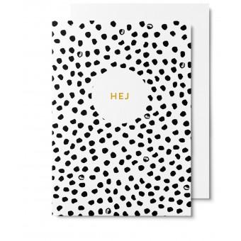 UNTER PINIEN Hej - Klappkarte mit Umschlag