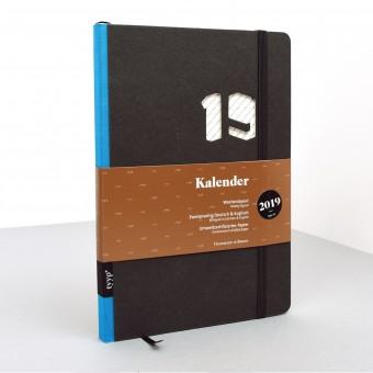 tyyp Kalender 2019 - Soft, Schwarz, DIN A5, Handmade