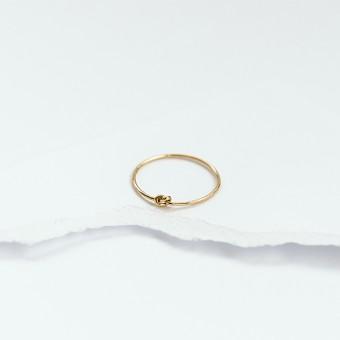 KNOTEN.RING gelbgold – PULS good stuff