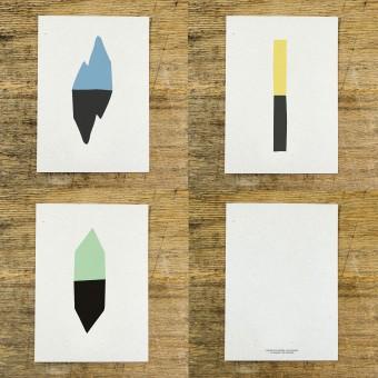 KEINWAREN / VON LAUFENBERG Postkarten-Serie Dublette