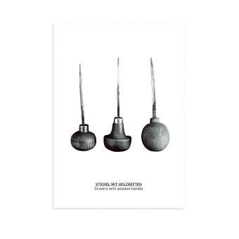 Postkarte Stichel