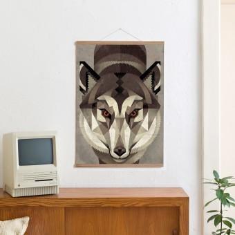 KLEINWAREN / VON LAUFENBERG Set / Wolf + Posterleiste Eiche 50cm