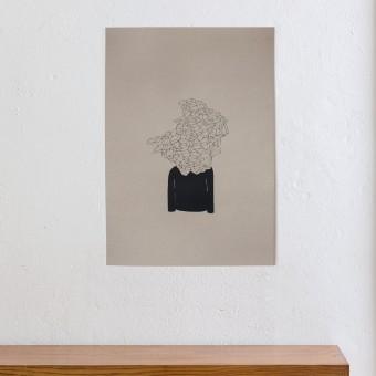KLEINWAREN / VON LAUFENBERG - Monsieur Visionaer (A2 Siebdruck Poster)