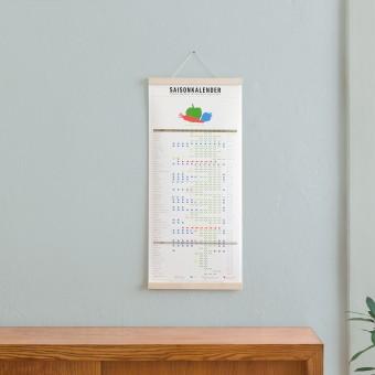 KLEINWAREN / VON LAUFENBERG Set / Saisonkalender + Magnetische Posterleiste Ahorn A3