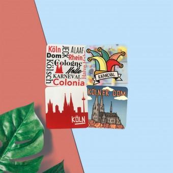 Stadtliebe® | Köln Flexible Magneten im 4er Set II