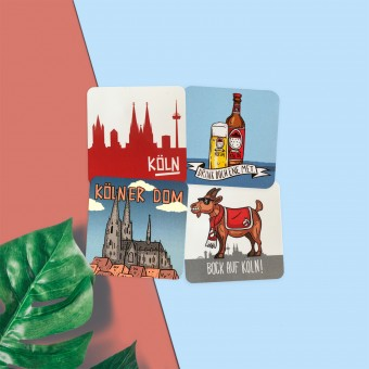 Stadtliebe® | Köln Flexible Magneten im 4er Set III | Verschiedene Motive