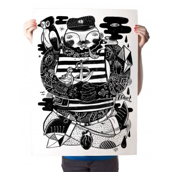Martin Krusche – Poster »Käptn Konnie« 50x70cm oder DIN A3, Illustration von Martin Krusche