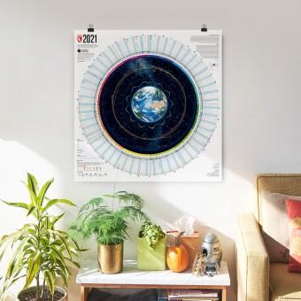 Jahreskalender 2021 von Marmota Maps
